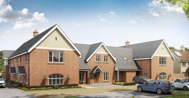 Suffolk show home apartment opening in Long Melford