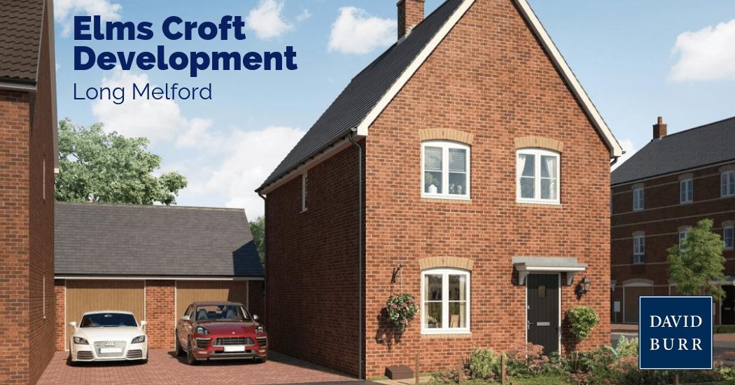 Elms Croft development in Long Melford, Suffolk