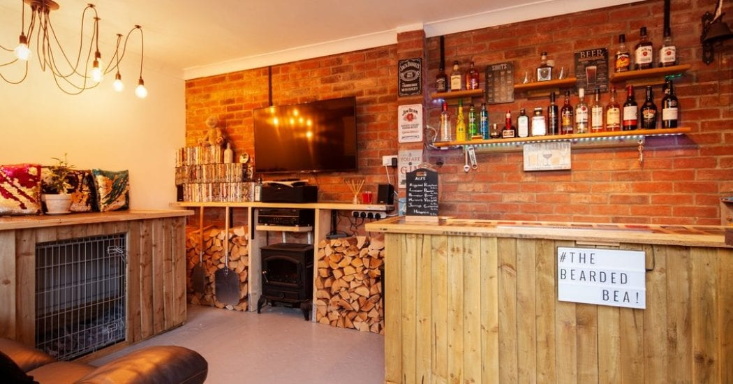 Pub in converted garage in Suffolk