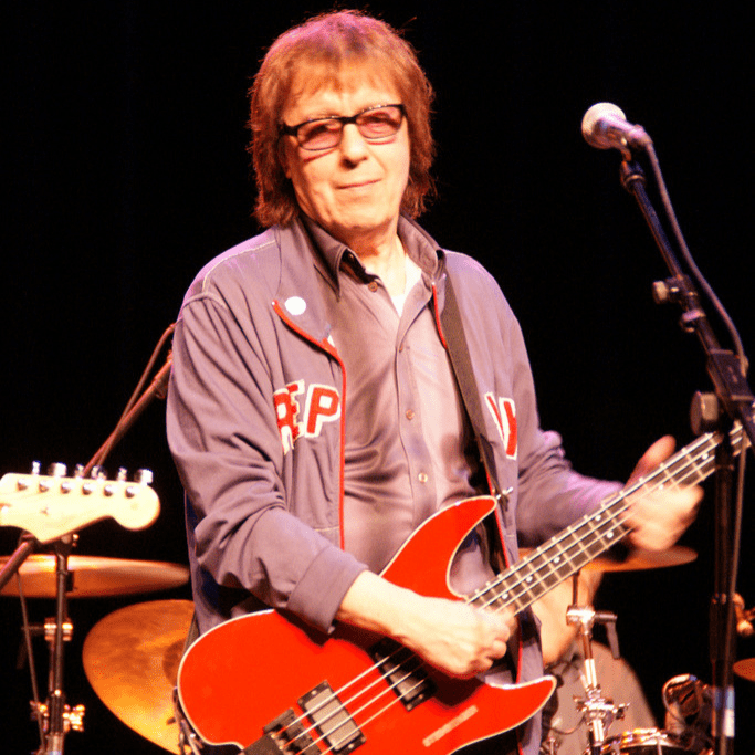 Bill Wyman, who lives in Suffolk, performing in 2009