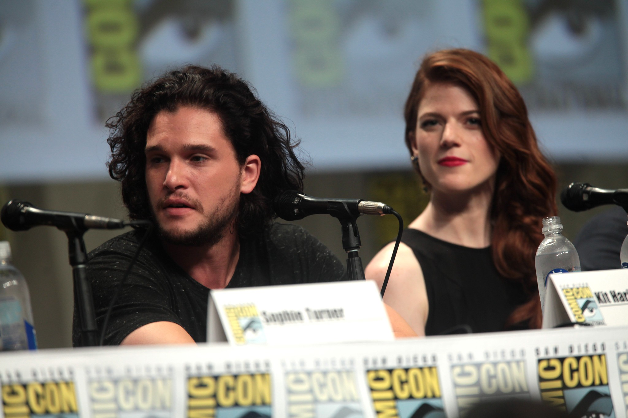 Kit Harrington and Rose Leslie, who live in Brettenham, Suffolk, at Comic Con